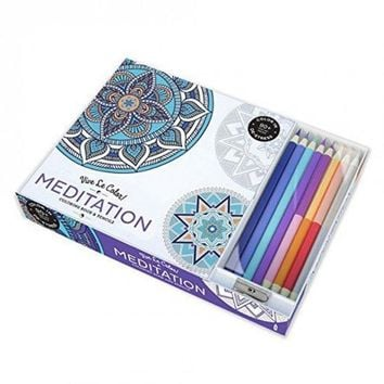Meditation Adult Coloring Book Color Therapy Kit