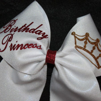 Birthday Princess cheer bow