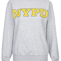 NYPD Sweat by Tee and Cake - Grey Marl
