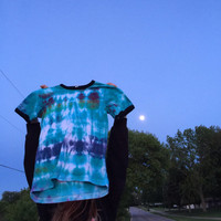 READY TO SHIP! Ringer tie dye tee - small