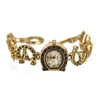 Women's Horseshoe Bracelet Fashion Watch