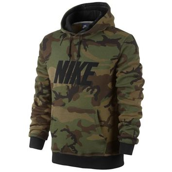 Nike Club PO Hoodie Woodland Camo - Men's at Foot Locker