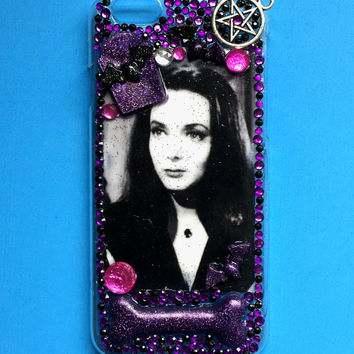 Decoden The Addams Family Morticia Rhinestone Phone Case for iPhone 6