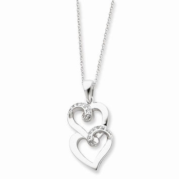 Sterling Silver To My Sister Heart Necklace