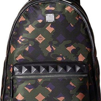 VLX6VB MCM Unisex Dieter Munich Lion Camo Nylon Medium Backpack  mcm