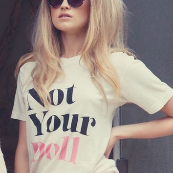 Wildfox Not Your Doll Vintage Tee in Vintage Lace