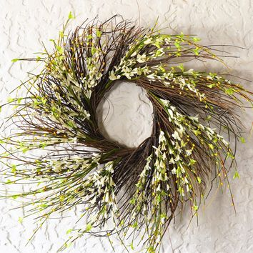 Maple Ridge Floral Twig Wreath