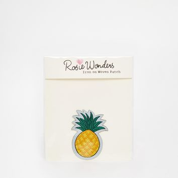 Rosie Wonders Pineapple Iron On Patch