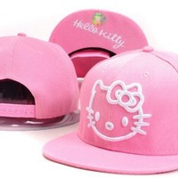 PINK HELLO KITTY SNAPBACK HAT