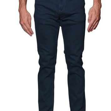 Men's Skinny Fit Colored Jeans DL937 (Teal)