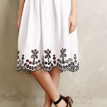 Poplin Eyelet Skirt by Moulinette Soeurs Black & White