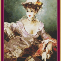 La Parisienne-Counted cross stitch pattern in PDF format