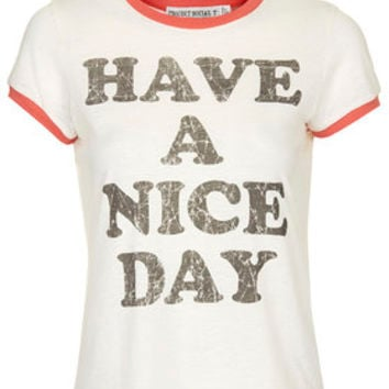 Have A Nice Day Tee by Project Social T - Cream