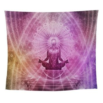 SPIRITUAL YOGA MEDITATION ZEN COLORF WALL TAPESTRY