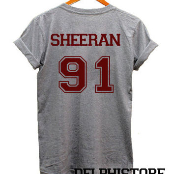 ed sheeran shirt t shirt sport grey from delphistore on etsy. Black Bedroom Furniture Sets. Home Design Ideas