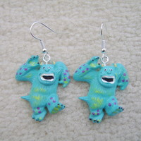 Disney Monster Inc Inspired Sulley Earrings. Made to order. Must see
