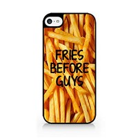 Fries Before Guys - French Fries - Fast Food - Food Lover - Sassy Quote - iPhone 5C Black Case (C) Andre Gift Shop