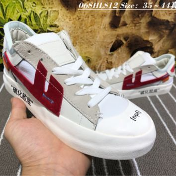 hcxx Nike The Remade x K.Yee OFF-WHITE Canvas Skate Shoes Red