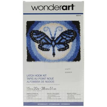 "Butterfly Moon Wonderart Latch Hook Kit 15""X20"""