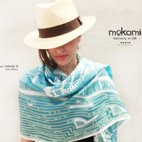"Marino 70"" X 35"" women wraps shawls // 100% silk - HABOTAI 8 // gifts for her // Wearable Art // summer, lovely second skin"