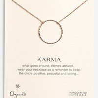 Women's Dogeared 'Karma Sparkle' Boxed Pendant Necklace