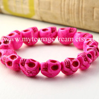 Day of the death pink skull bracelet