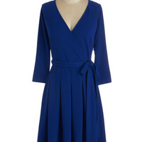ModCloth Minimal Mid-length 3 Wrap Movers and Chic-ers Dress