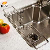Stainless Steel Kitchen Tray Dish Drainer Drying Rack Sink Holder Basket Knife Sponge Fork Holder Dish Rack Kitchen Organizer