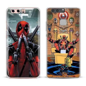 Deadpool Dead pool Taco  Coque For Huawei Ascend P8 P9 Lite 2017 P10 Plus Honor 6x 7i 8 V8 V9 v10 Mate 7 8 9 Nova 2 Phone Case Shell Cover AT_70_6