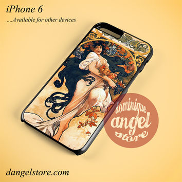 Alphonse Mucha 3 Phone case for iPhone 6 and another iPhone devices