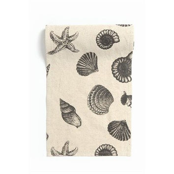 Beach House Shell Natural Cotton Canvas Table Runner - 54-in x 13-in