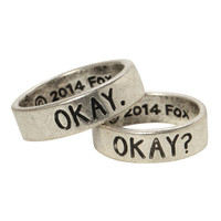 The Fault In Our Stars Okay? Okay His & Hers Ring Set