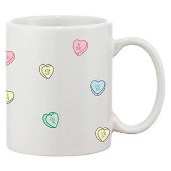 Cute 11oz Coffee Mug - Valentine Sweethearts Ceramic Coffee Mug Cup Gift