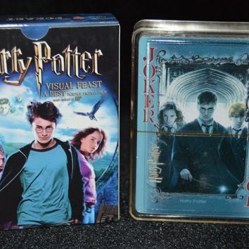 Free shipping 54pcs set paper collective harry potter poker movie playing cards novelty presents for kids