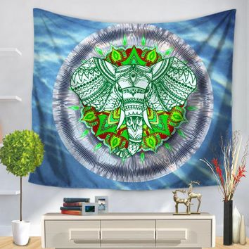 Indian Mandala Elephant Tapestry Home Decoration Wall Art Tapestry Wall Hanging Beach Towel Yoga Elephant Tapestries