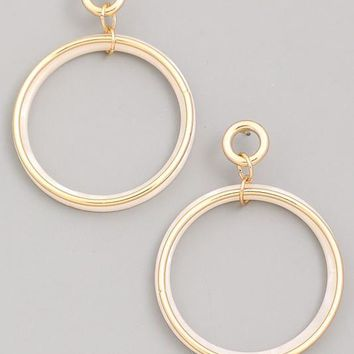 Follow Through Earrings - Ivory