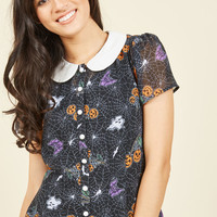 Trick-or-Treat Yourself Top | Mod Retro Vintage Short Sleeve Shirts | ModCloth.com