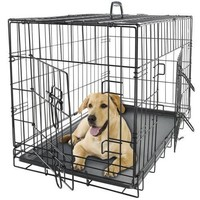 "New Black 48"" Pet Cage Kennel For Dogs & Cats With ABS Tray"