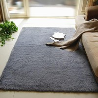 40*60cm Shaggy Fluffy Carpet Anti-Slip Area Rugs Living Room Carpets Bedroom Floor Mats tapete