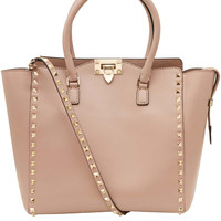 Valentino Small Beige Rockstud Double Handle Bag | Accessories | Liberty.co.uk