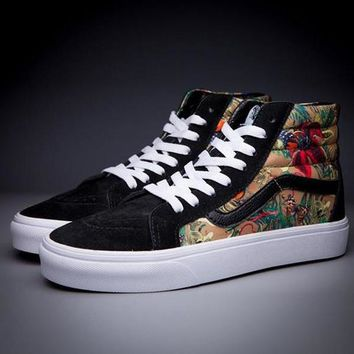 VANS SK8-Hi Fashion Print Flats Ankle Boots Sneakers Sport Shoes