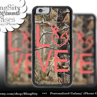 Camo Browning Buck Love iPhone 5C 6 Plus Case Coral Doe Heart Deer iPhone 5s 4 case Ipod Cover real tree camo Country Inspired Girl