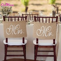 Rustic Wedding Banners Signs Mr and Mrs