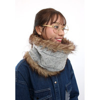 d/s by Drive Store™ Fur Lining Cable Knit Snood