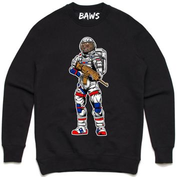ASTRO BAWS Black Crewneck Sweater