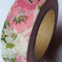 Pretty pink and green floral washi tape