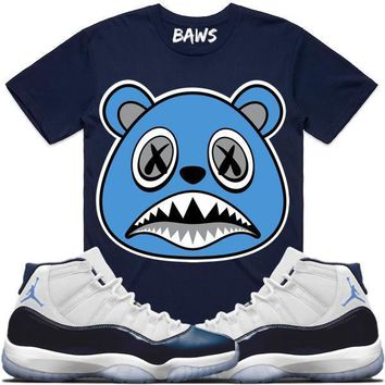 UNC BAWS Sneaker Tees Shirt - Jordan 11 Win Like 82