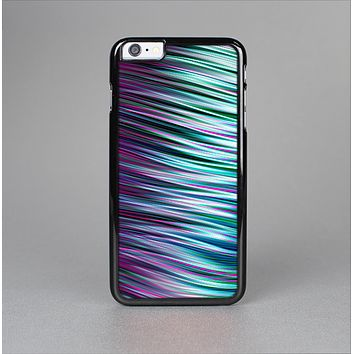 The Pink & Blue Vector Swirly HD Strands Skin-Sert for the Apple iPhone 6 Plus Skin-Sert Case