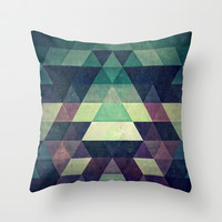 dysty_symmytry Throw Pillow by Spires
