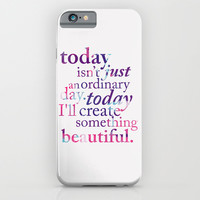 Today - Multicolor iPhone & iPod Case by Mockingbird Avenue